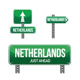 Netherlands Country road sign