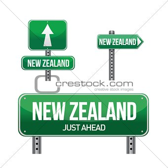 new zealand Country road sign