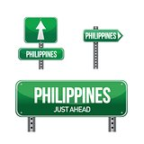 philippines Country road sign