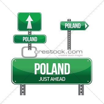 poland Country road sign