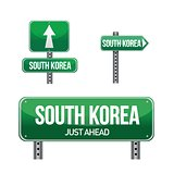 south korea Country road sign