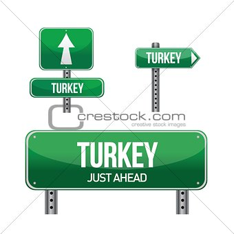 turkey Country road sign