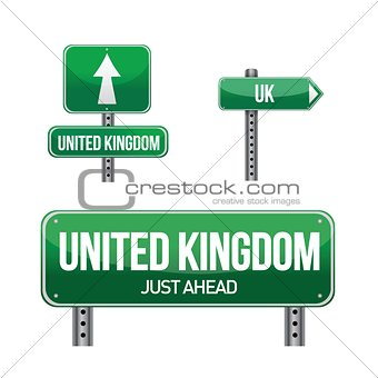 united kingdom Country road sign