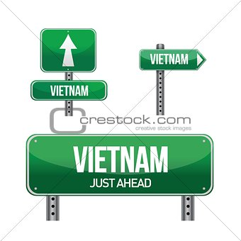 vietnam Country road sign