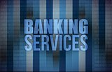 banking services on digital screen, business