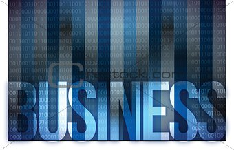 business on digital screen, business concept
