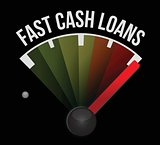 fast cash loans speedometer illustration design