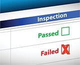 Inspection Results business paperwork