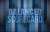 balanced scorecard on digital screen, business
