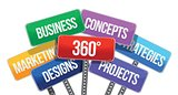 360 business concepts. color signs