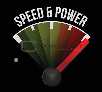 speed and power concept speedometer