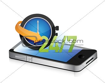 24 7 on the move smartphone