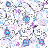Spring seamless pattern