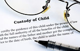 Custody of Child concept of family laws and adoption