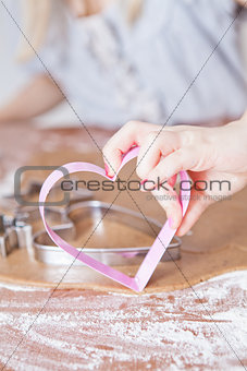 Heart shaped gingerbread cutter