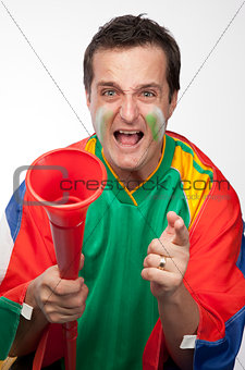 Crazy South African Supporter