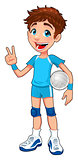 Young volleyball player.