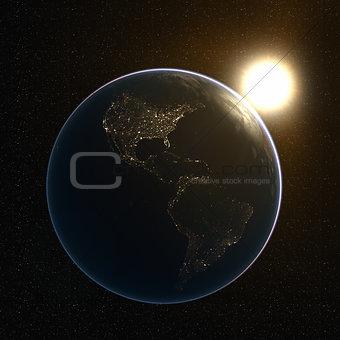 America's Lights at Night