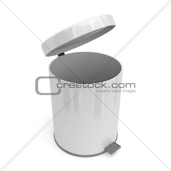 Open pedal bin