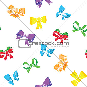 bows and ribbons seamless