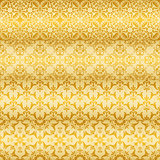 Vector Seamless Golden  Floral Patterns