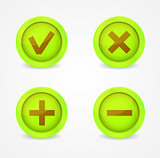Set of glossy icons. Vector icons collection