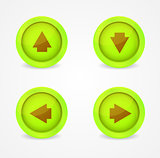 Set of glossy icons with arrows. Vector icons collection