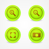 Set of glossy image browser icons. Vector icons
