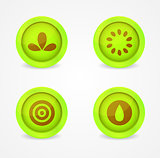 Set of glossy miscellaneous icons. Vector icons