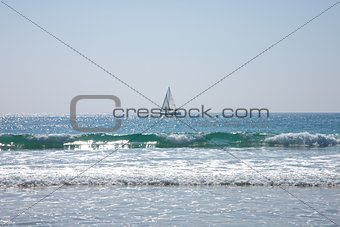 sailing boat at Atlantic