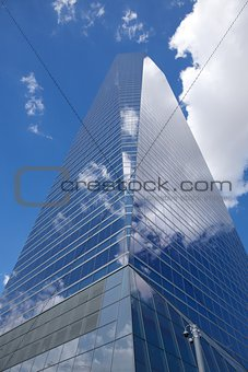 skyscraper crystal cloudy