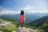 trekking woman in Picos de Europa