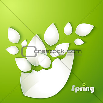 Abstract paper leaves