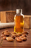 seeds of argan with light and soap