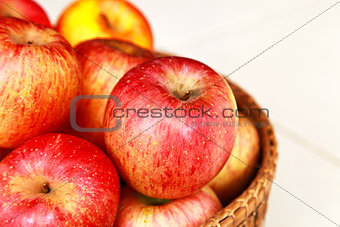 Apple in the basket