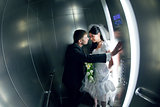 couple in the lift