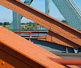 steel structure of a bridge