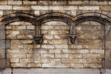 Arched wall of Saint Michael&#39;s bridge Ghent