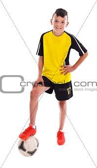Teenage soccer player