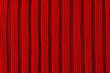 Red knitted texture background