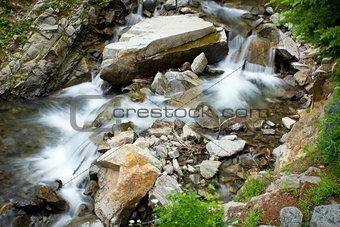 Waterfall in Mount Rainier National Park