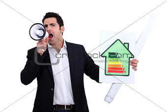 Architect shouting about his energy rating