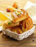 puff pastry with jam - sweet breakfast