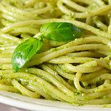 Pesto spaghetti.