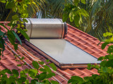 Solar roof water heater
