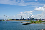 A Beautiful Day In The Industrial Port Of Ijmuiden ,The Netherlands