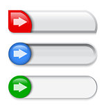 Slider interface elements with arrow sign