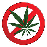 Sign forbidden cannabis