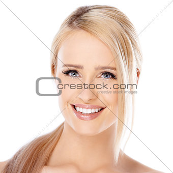 Adorable girl with beautiful smile