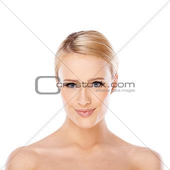 Beauty portrait of blond woman